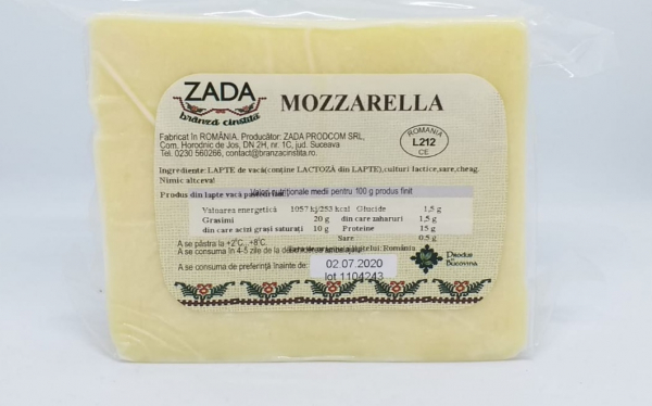 Mozzarella, 350-400 gr 0