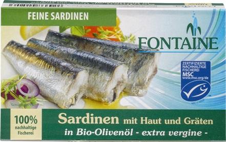 Sardine in ulei bio de masline, 120 gr 0