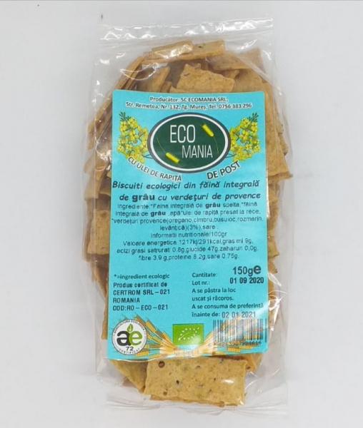 Biscuiti ecologici cu ierburi de provence, 200 gr 0