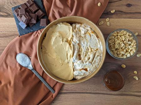 Inghetata Artizanala Snickers si Caramel Sarat, 100% naturala [0]