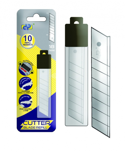 Rezerva pentru cutter mare (18 mm), 10 buc/set, DP Office 0