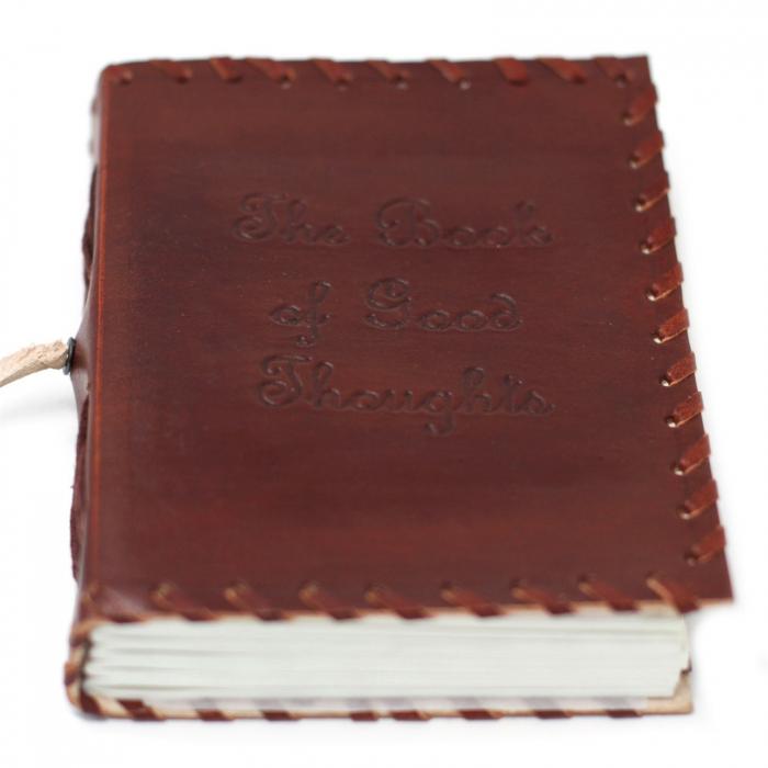 Agenda din Piele Handmade Good Thoughts [2]