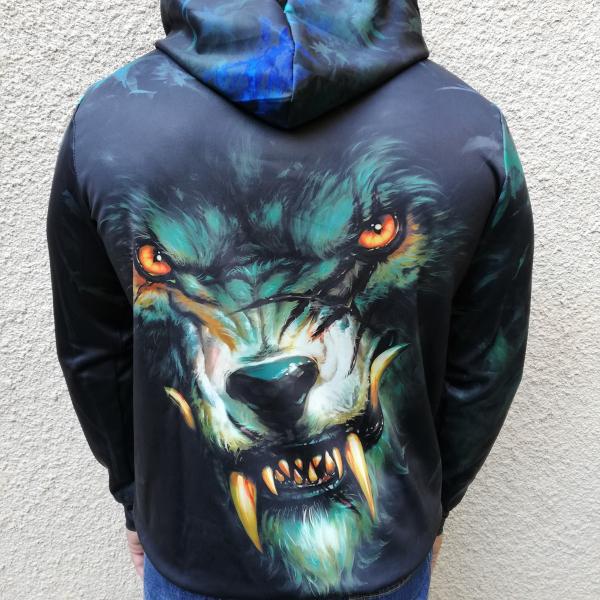 Hanorac 3D Dark Wolf 1