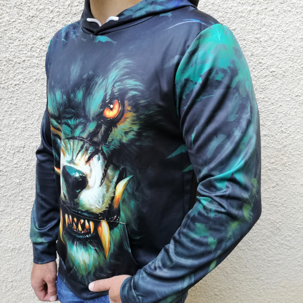 Hanorac 3D Dark Wolf 2