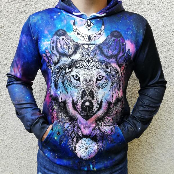 Hanorac 3D Spirit Wolf 0