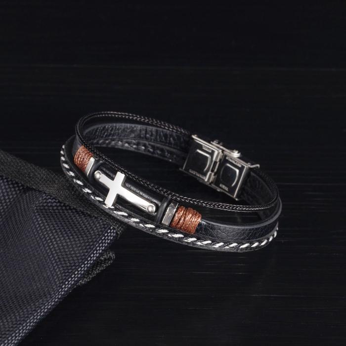Bratara Piele Cross 1