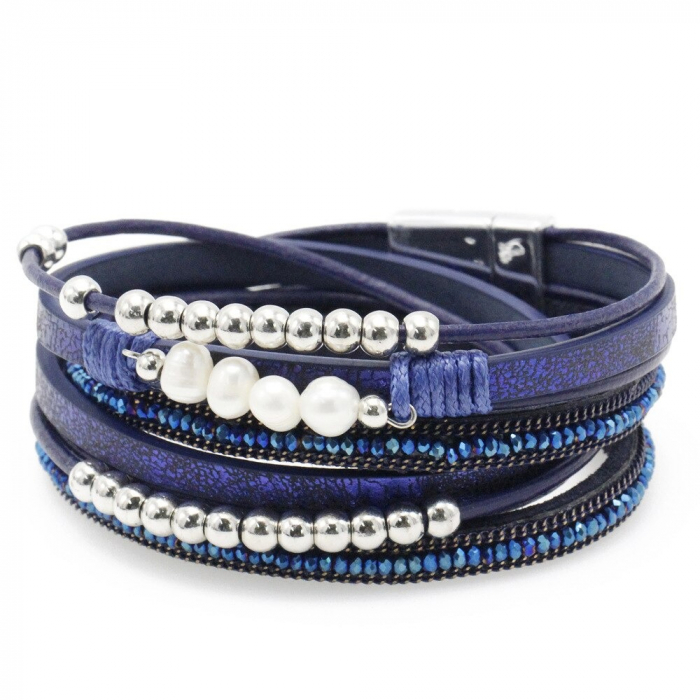 Bratara Multistrat Pearl Blue [0]