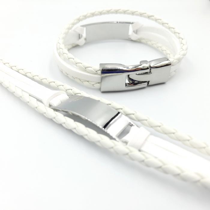 Bratara Piele Sport White [1]