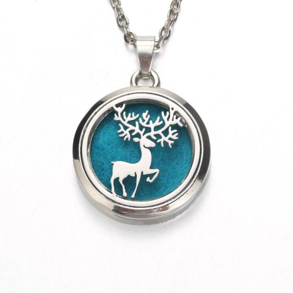 Colier Aromaterapie Silver Stag 0
