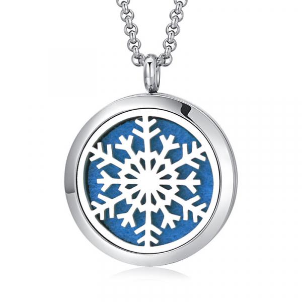 Colier Aromaterapie Snowflake 0