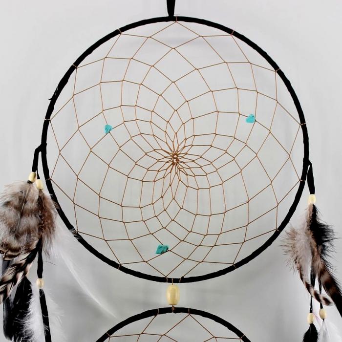 Dreamcatcher 3 Hoops Black [1]