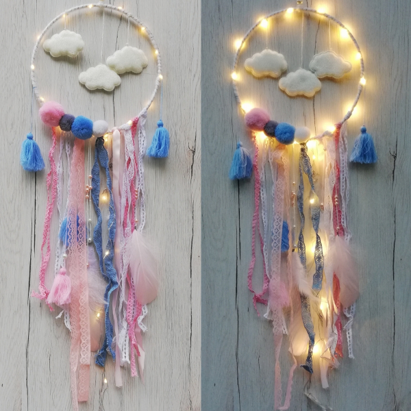 Dreamcatcher Cloud cu iluminare LED 0