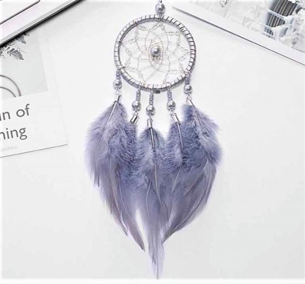 Dreamcatcher Marble Feathers, Gri, pentru masina 1