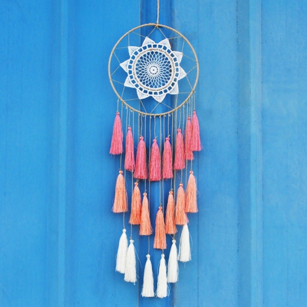 Dreamcatcher Peach Tassel 0