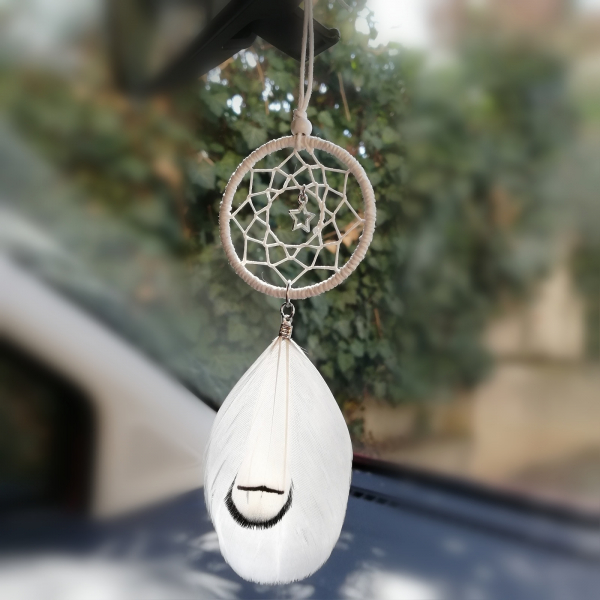 Dreamcatcher White Little Star, pentru masina 0