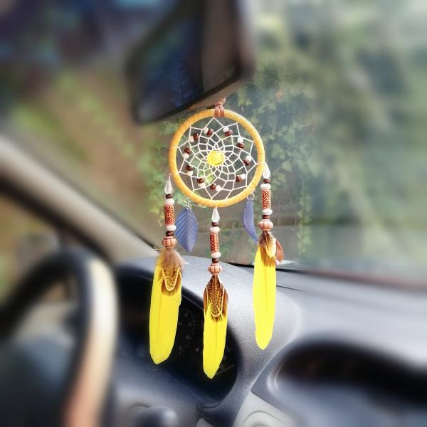 Dreamcatcher Yellow Leaf, pentru masina 0