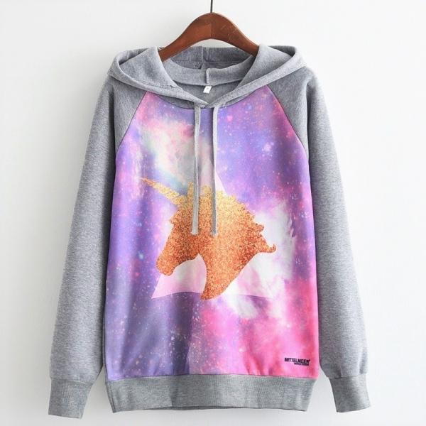 Hanorac Unicorn Glitter