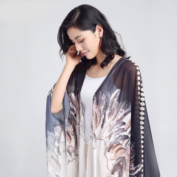 Kimono Elegant Feather 0