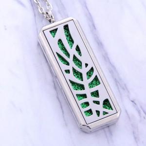 Colier Aromaterapie Jade Leaf0