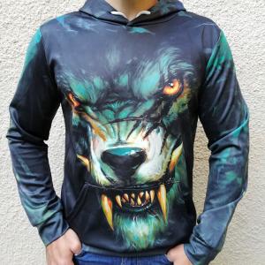 Hanorac 3D Dark Wolf0