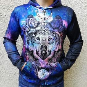 Hanorac 3D Spirit Wolf0