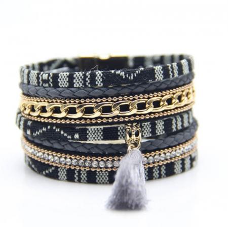 Bratara Boho in stil Aztec Boho Black [0]