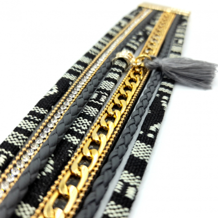 Bratara Boho in stil Aztec Boho Black [1]