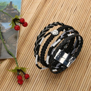 Bratara Multistrat Silver Beads2