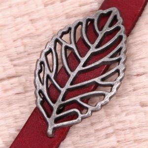 Bratara Piele Vintage Leaf2
