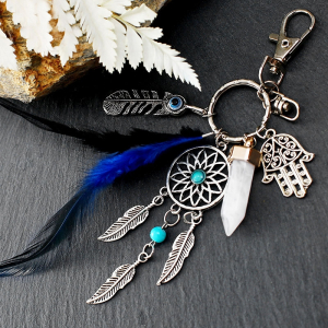 Breloc Dreamcatcher Fatima Blue0