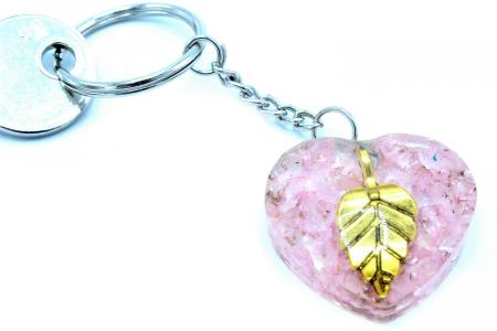 Breloc Orgonic Quartz Heart [2]