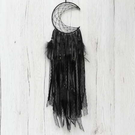 Dreamcatcher Semiluna Lace, Negru [0]