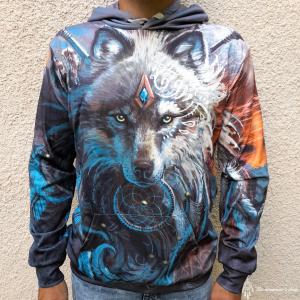 Hanorac 3D Dreamcatcher Wolf0