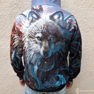 Hanorac 3D Dreamcatcher Wolf2