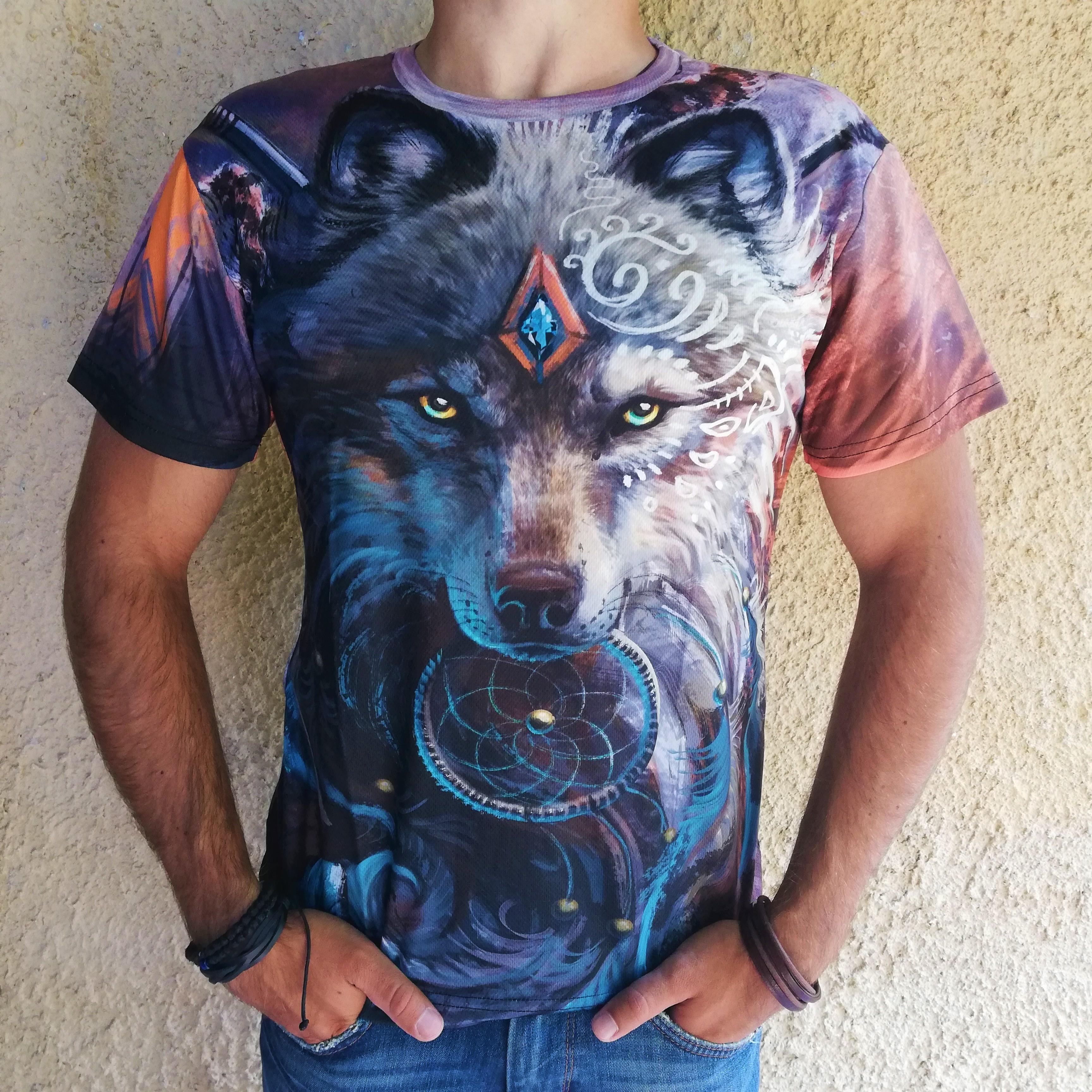 Tricou 3D Dreamcatcher Wolf0