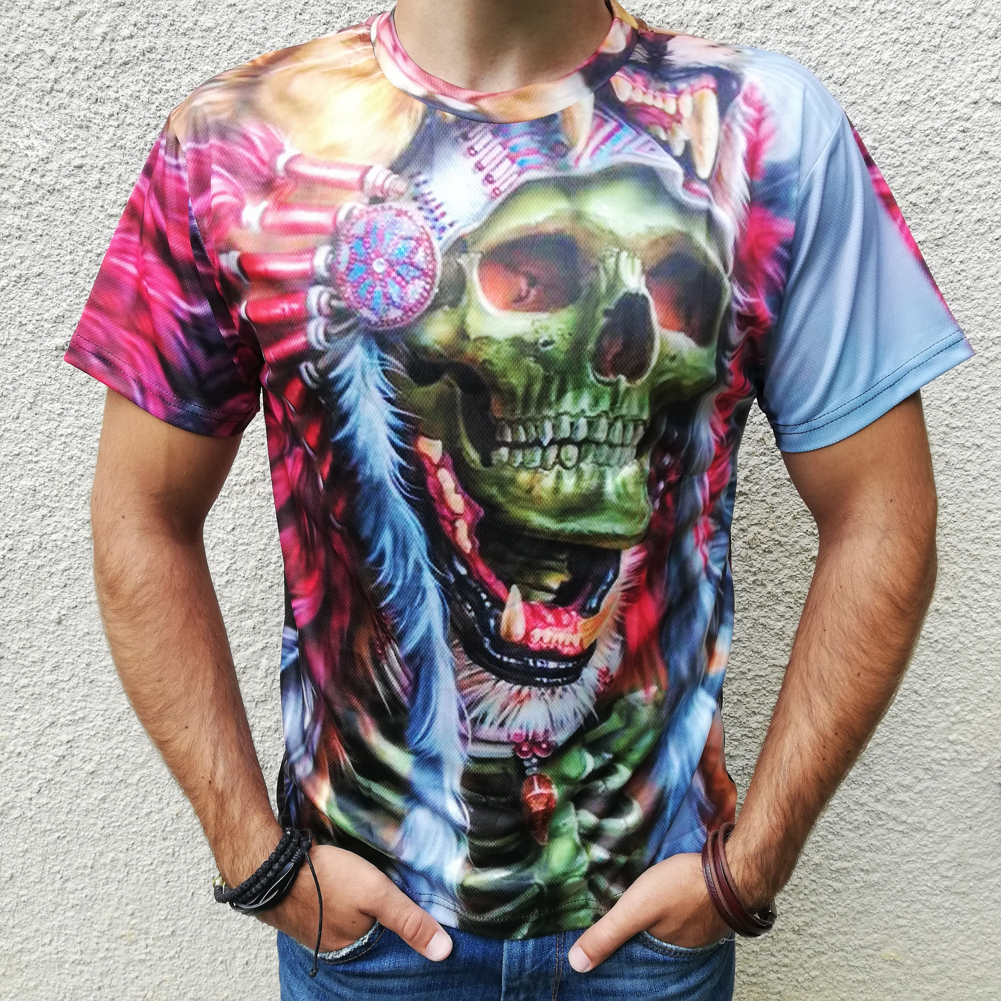 Tricou 3D Skull Chieftain0