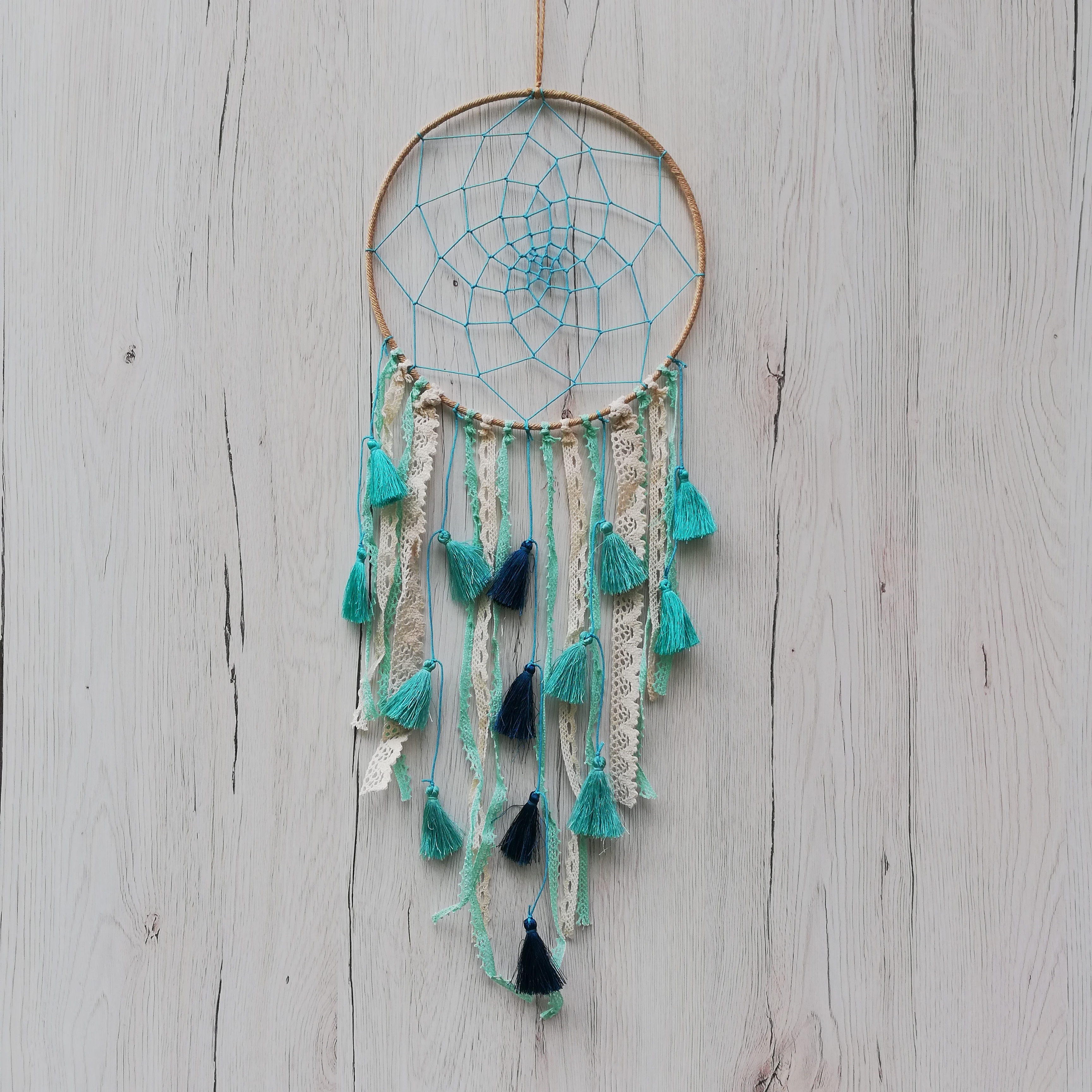Dreamcatcher Baby Blue Tassel3