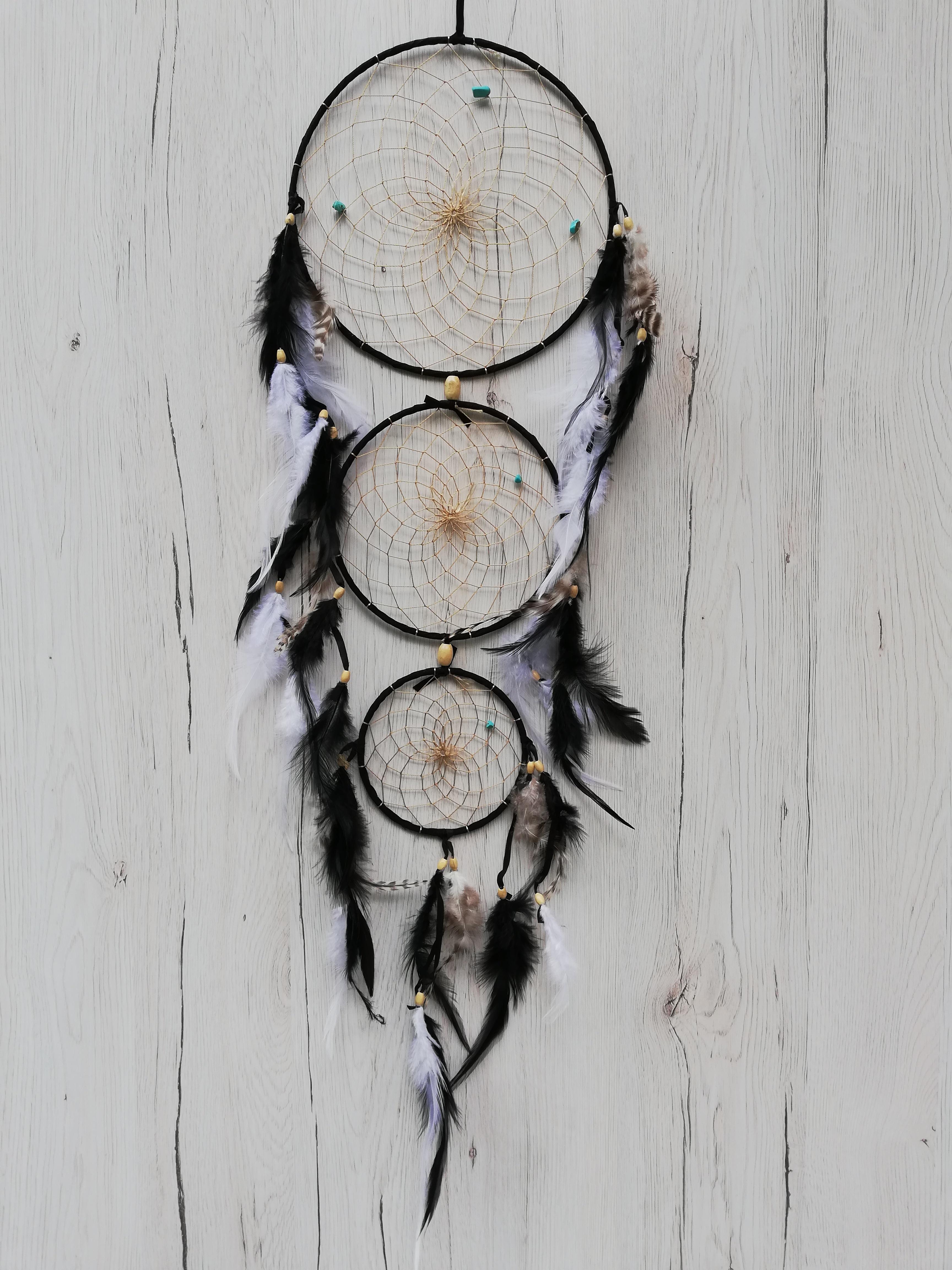 Dreamcatcher 3 Hoops Black0