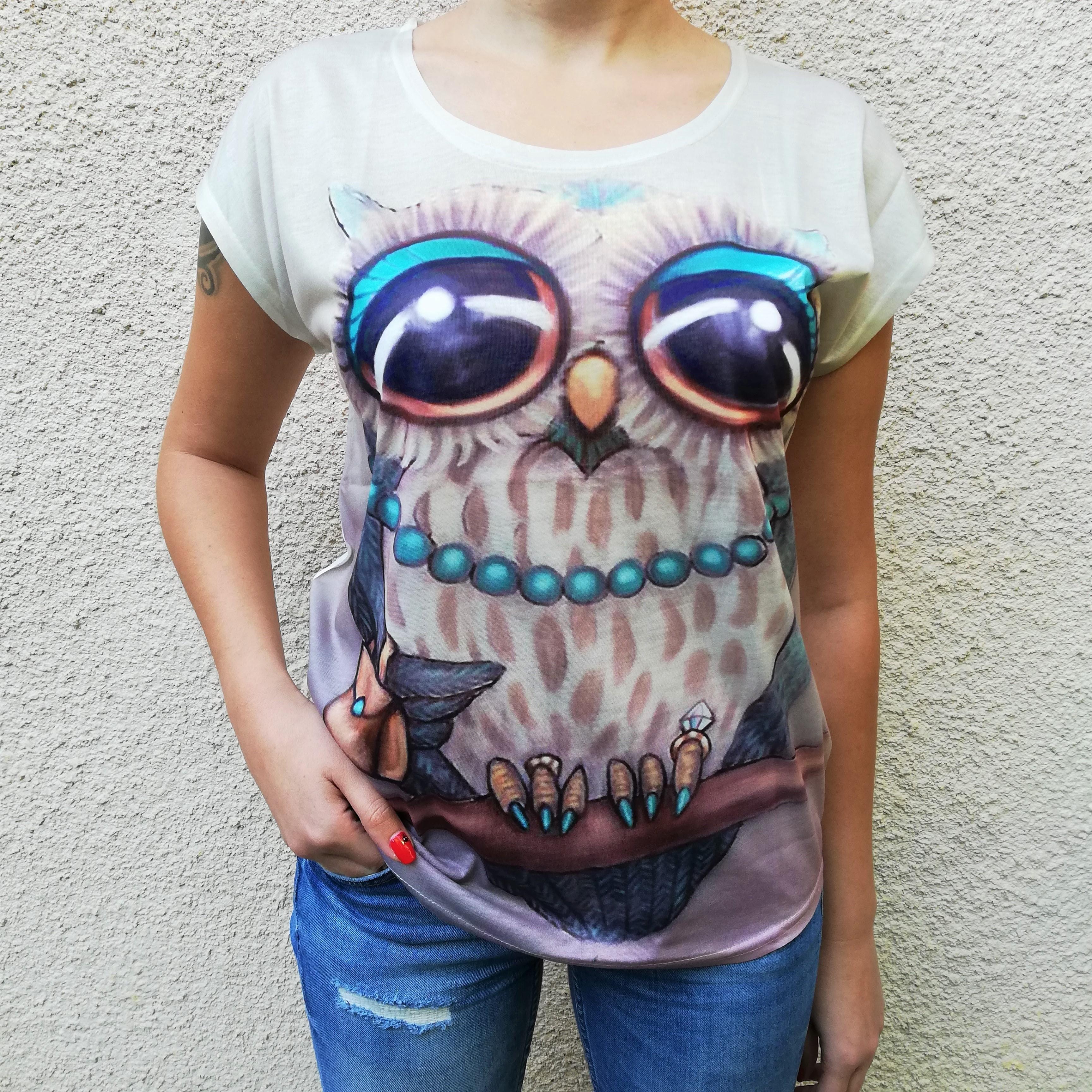 Tricou Marble Owl 0