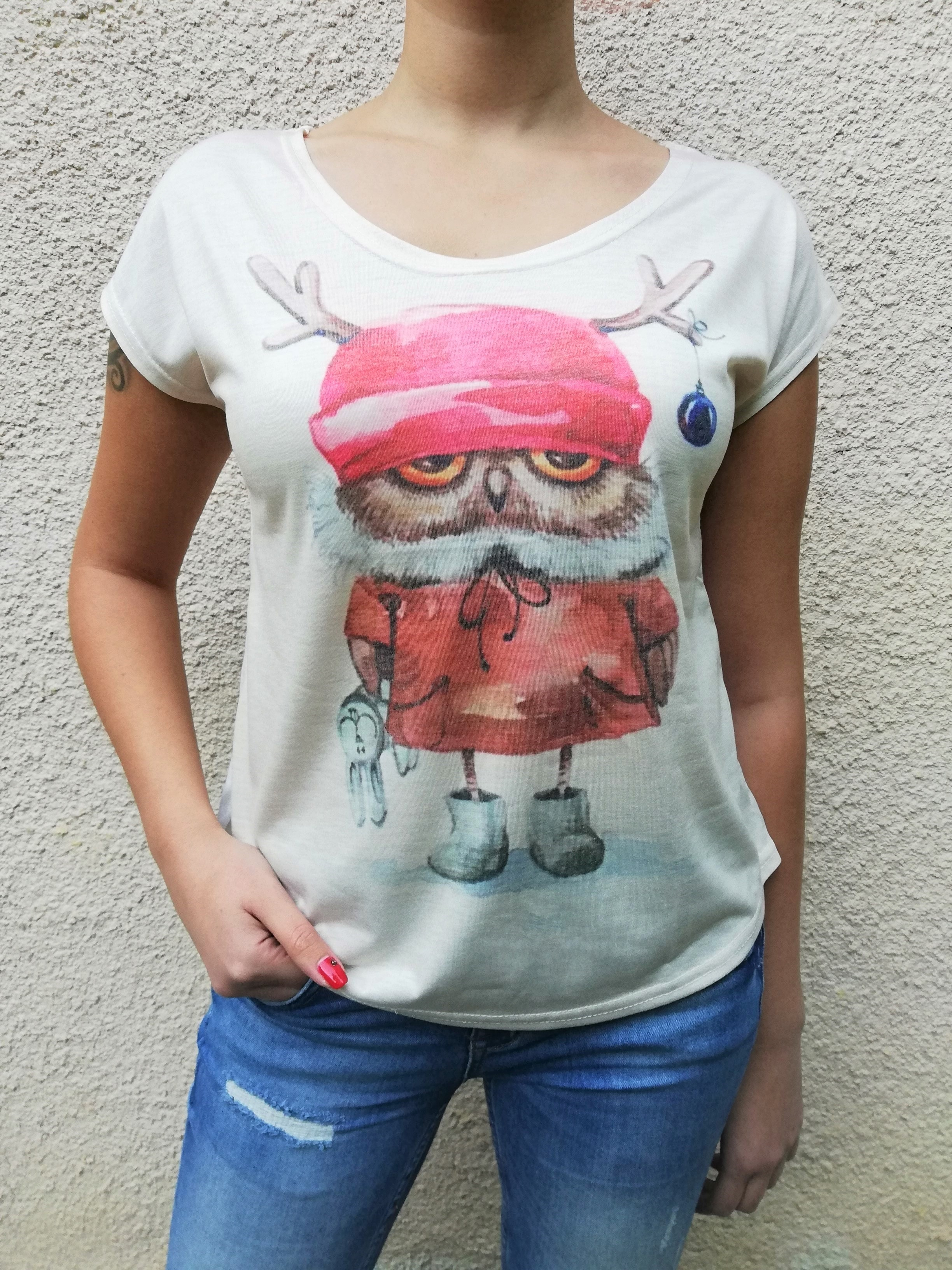 Tricou Winter Owl0