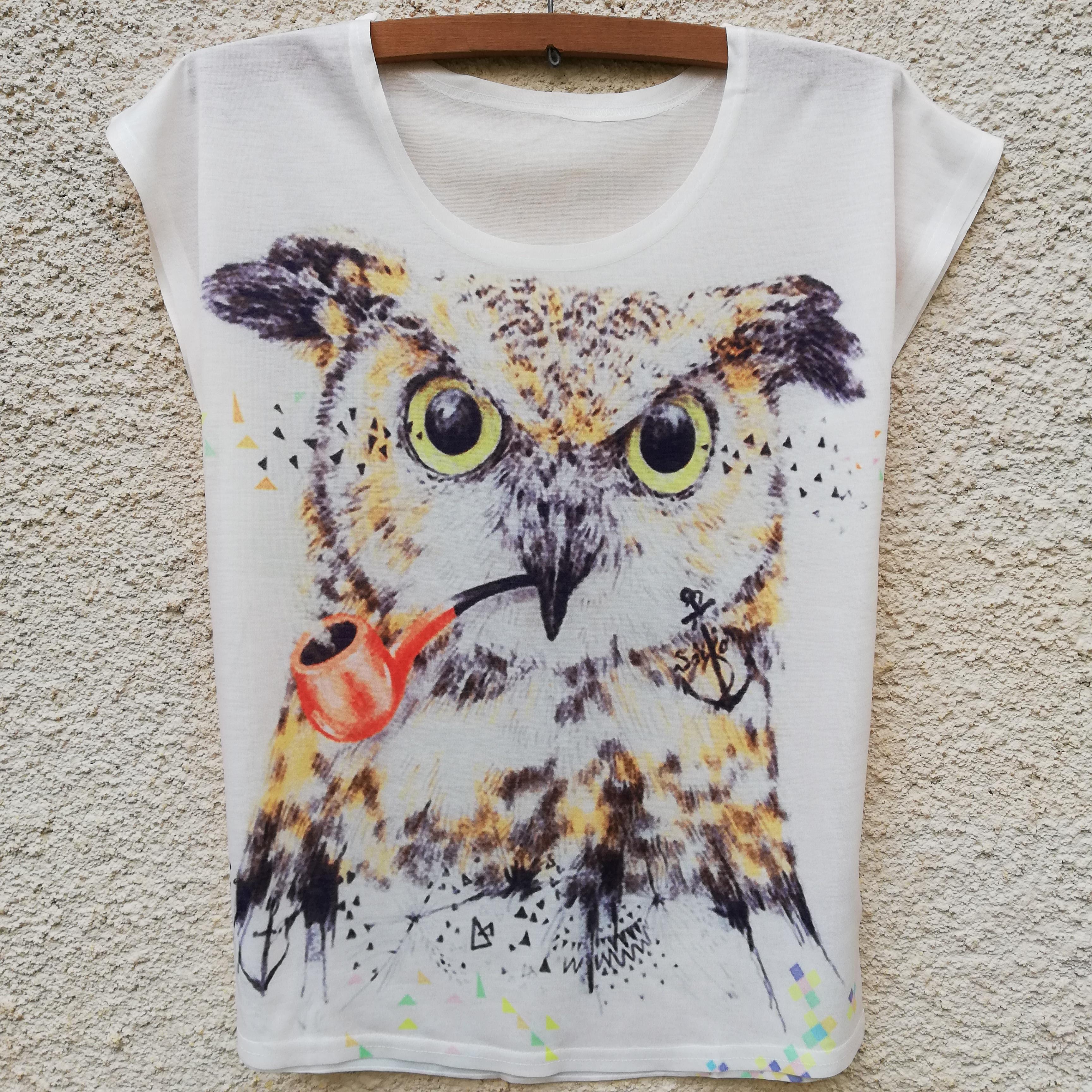 Tricou Pipe Owl0