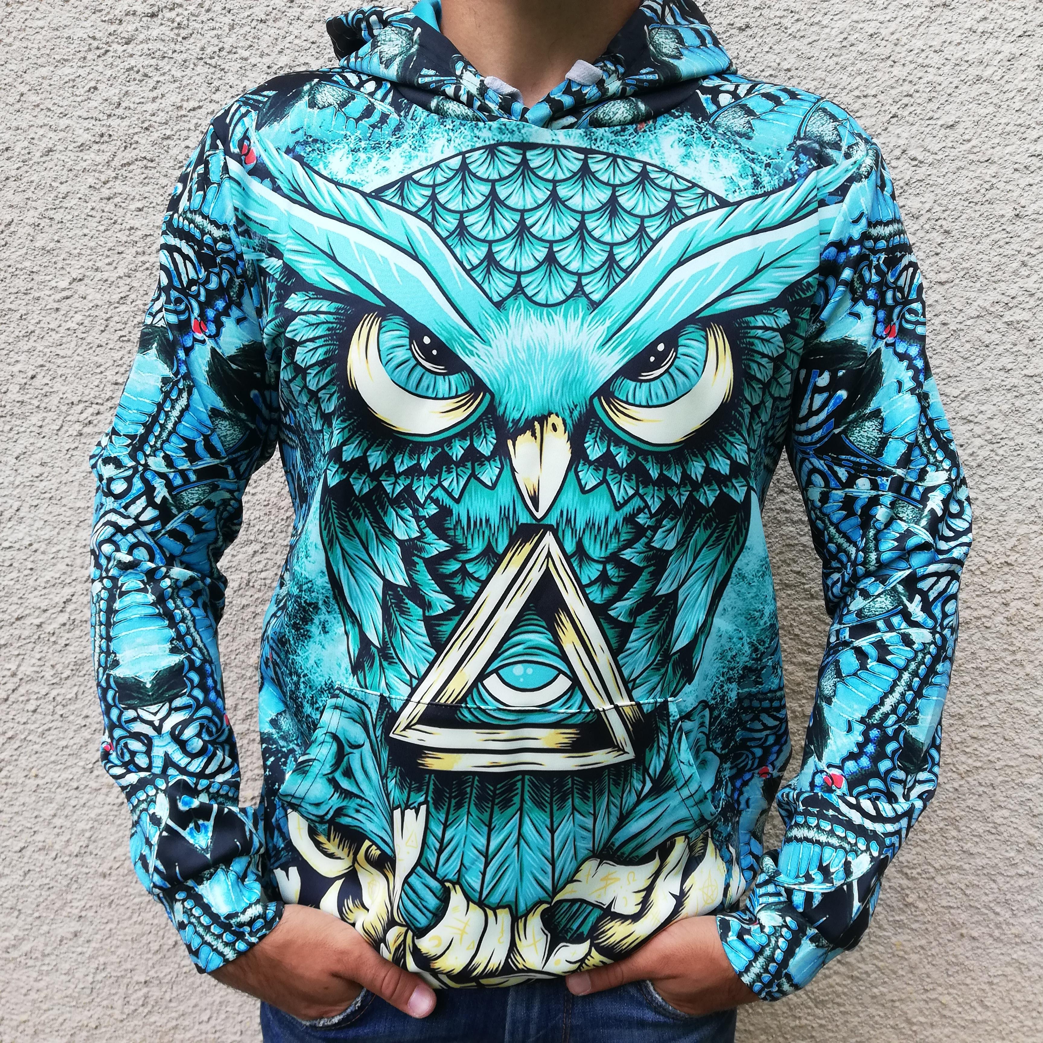Hanorac 3D Illuminati Owl0
