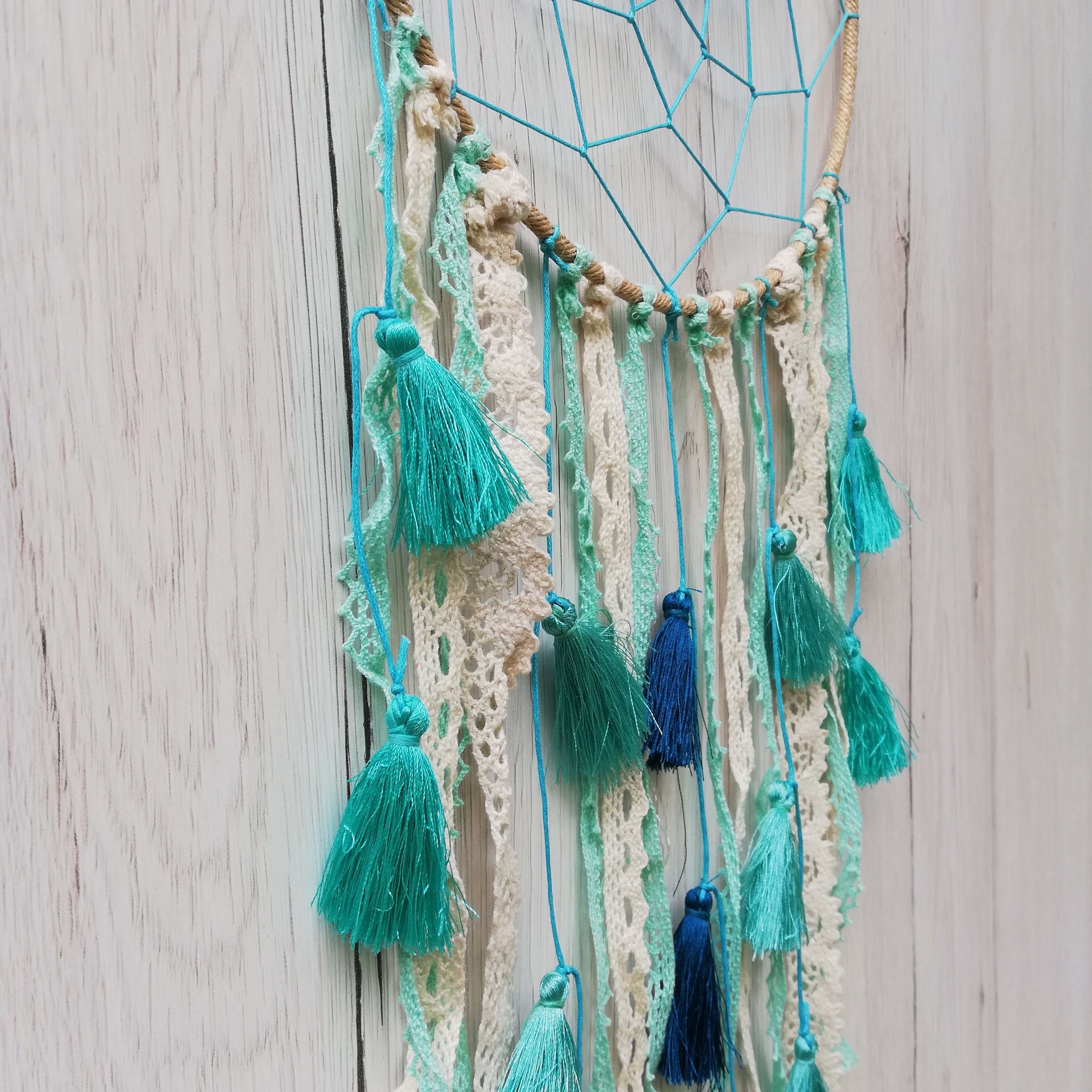 Dreamcatcher Baby Blue Tassel2