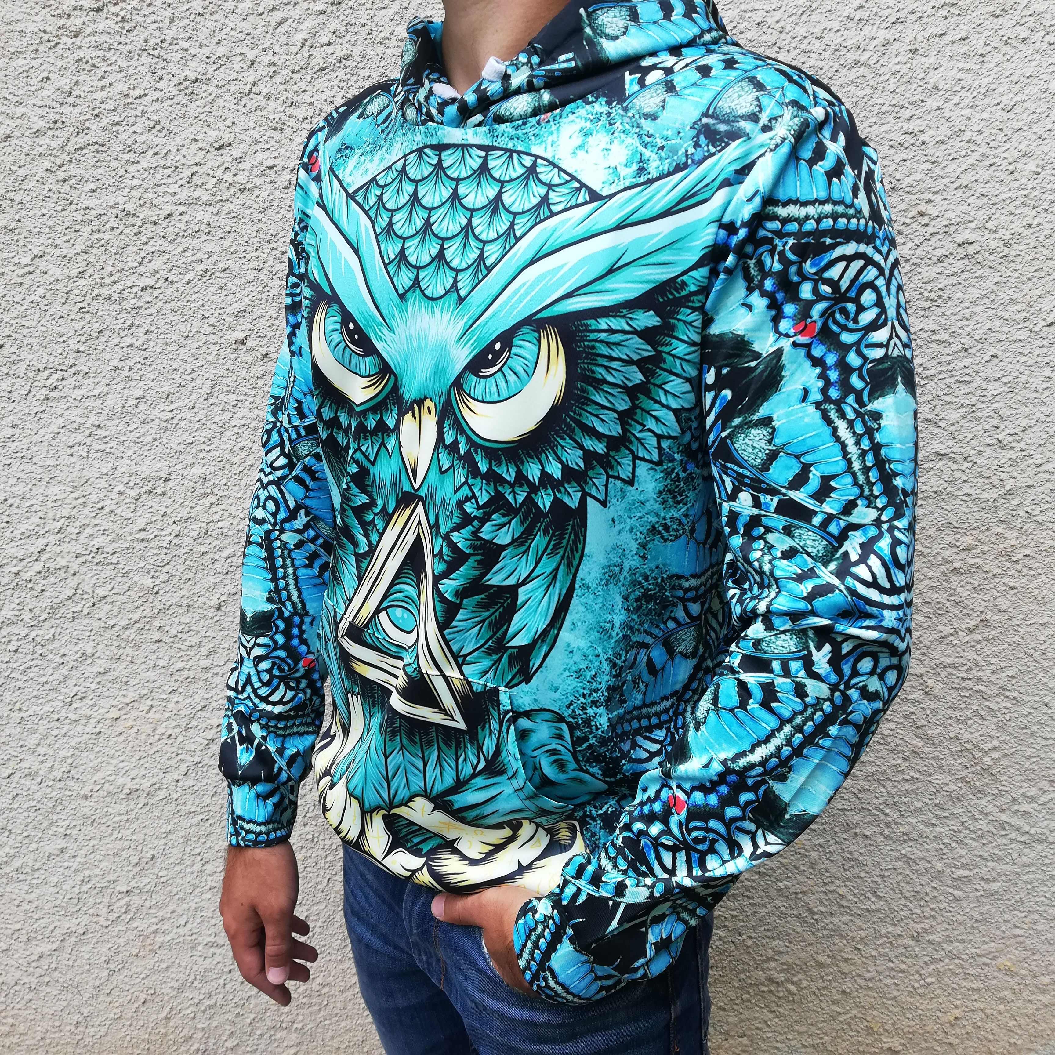 Hanorac 3D Illuminati Owl2