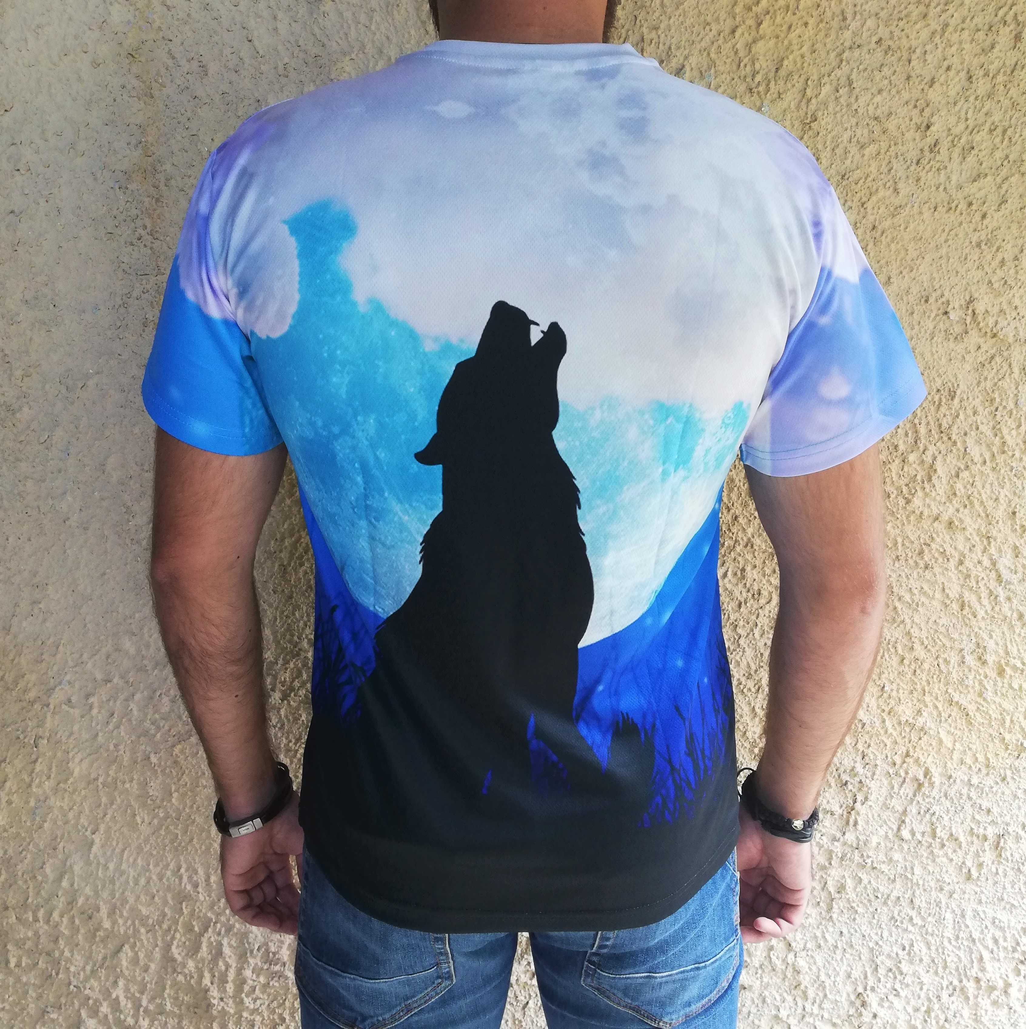Tricou 3D Wolf Moon Howl1