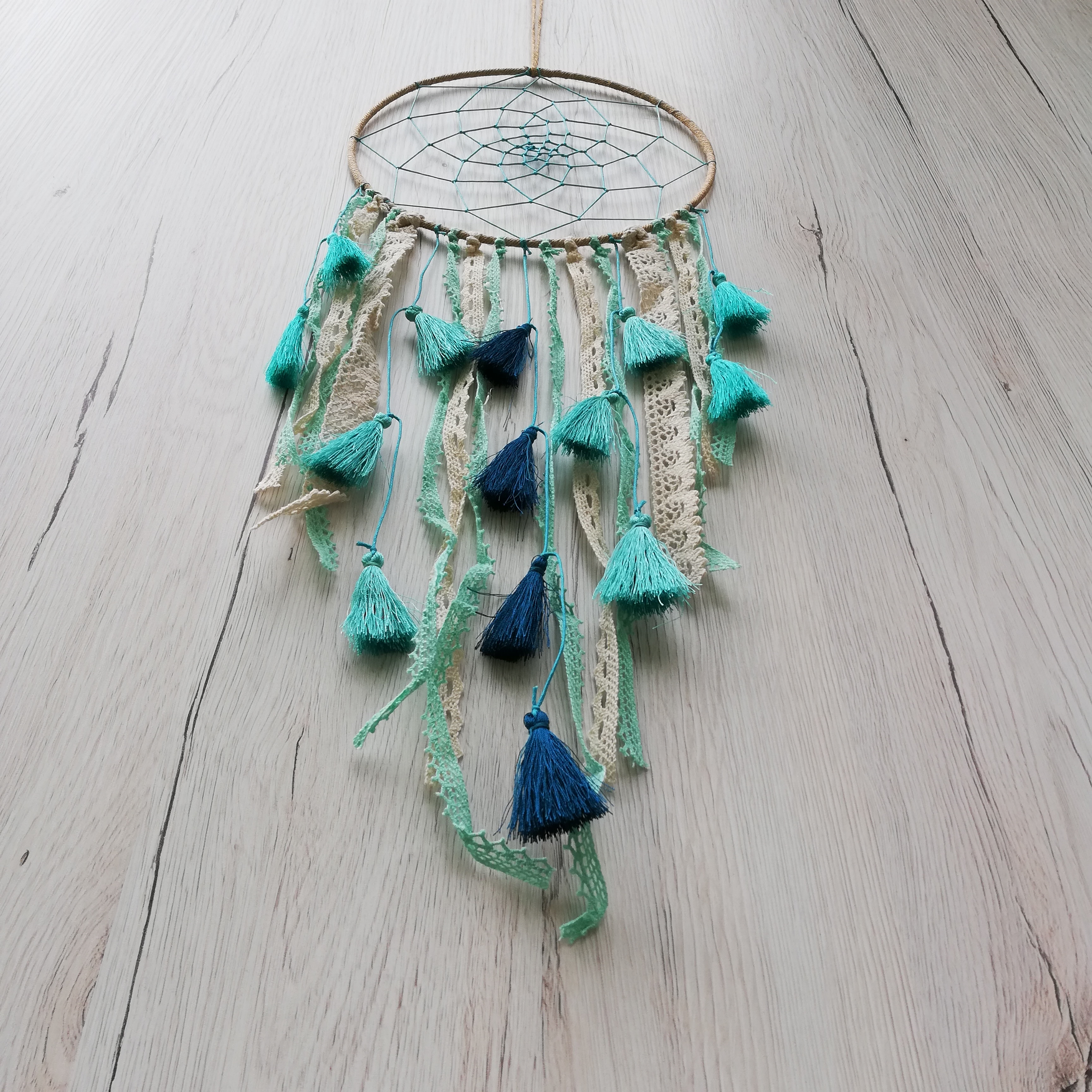 Dreamcatcher Baby Blue Tassel1