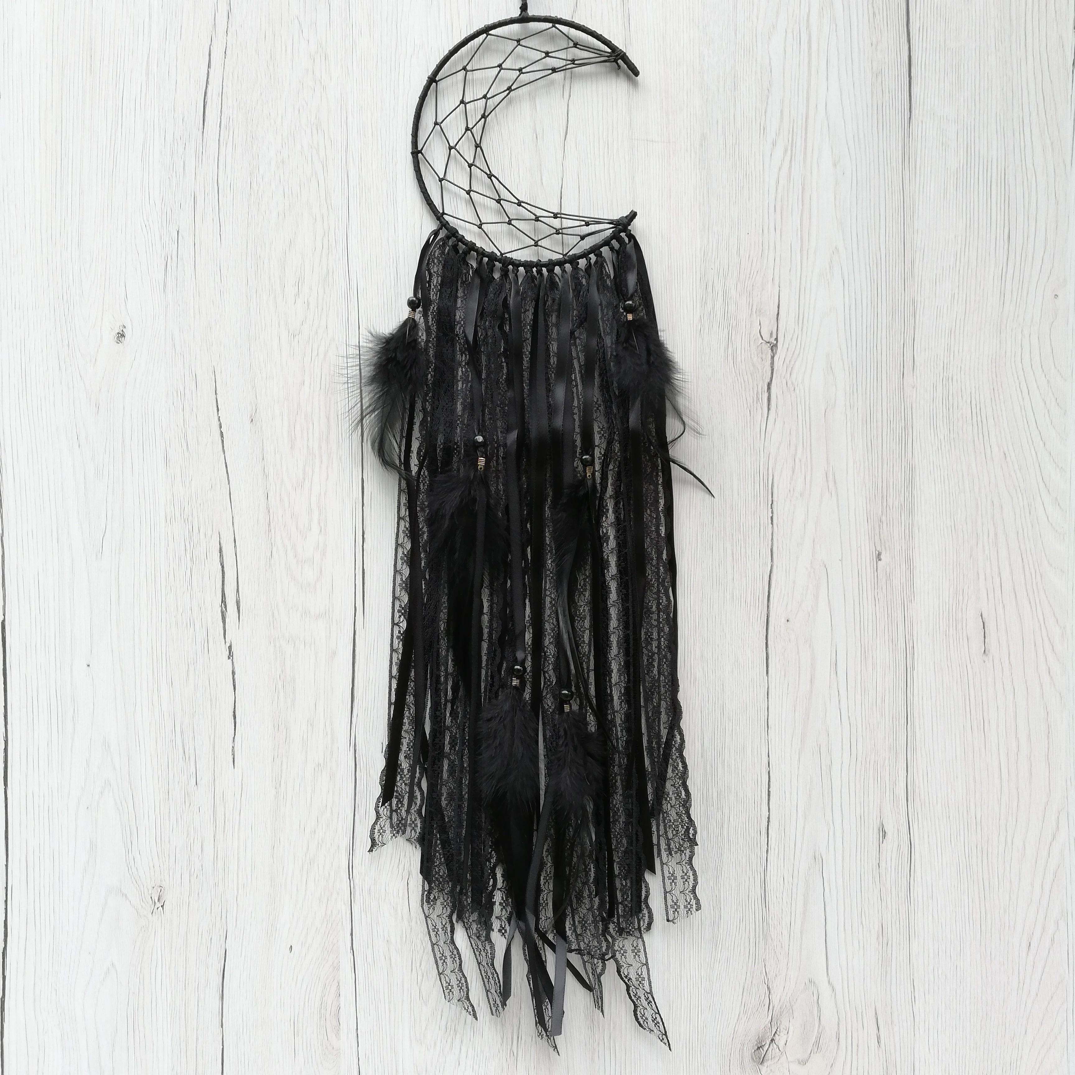 Dreamcatcher Semiluna Lace, Negru