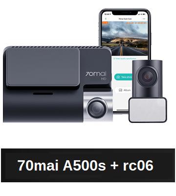 Dashcam 70mai A500s 4K