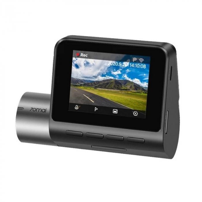 "Pachet camera autoDVR Xiaomi 70MAI A500S Dash Cam Pro Plus cu camera spate RC06,2.7K 1944p, IPS 2.0"", 140 FOV, ADAS, GPS, Night Vision 1"