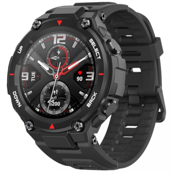 Smartwatch Xiaomi Huami Amazfit T-Rex, AMOLED 1.3 inch, GPS, Waterproof 5ATM (suporta inot), Bluetooth 5.0, 390 mAh, Negru 0